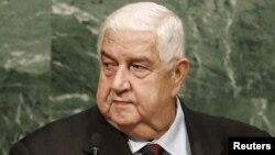 Министр иностранных дел Сирии Валид Муаллем.