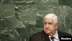 ولید المعلم وزیر خارجه سوریه
