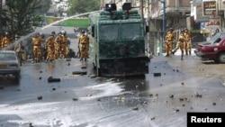 Разгон одной из акций протеста в Йемене