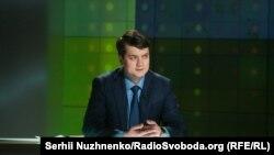 Разумков стверджує, що виконає указ президента, якщо той вирішить розпустити парламент