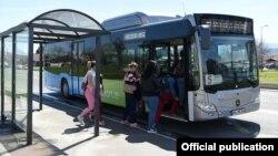 Скопје лани тестираше автобус на плин
