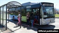 Скопје тестира нов градски автобус на ЦНГ