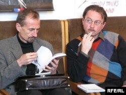Захар Шыбека і Алесь Смалянчук у 2008 годзе