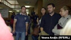 Milan Živanović u sudu u Beogradu, 20. septembar 2012.