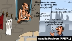 Azerbaijan -- Hunger and referendum (cartoon)