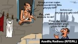 Azerbaijan -- Hunger and referendum (cartoon)
