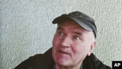 "Ratko Mladic in a photo taken after his arrest on May 26 and provided by Belgrade's ""Politika"" newspaper"