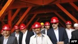 Mahmud Əhmədinejad Tehranla Çalus arasındakı tunelin inşası ilə tanış olur, 29 iyun 2009