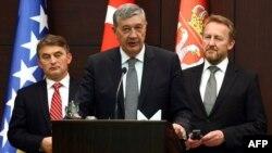 Članovi Predsjedništva BiH Željko Komšić, Nebojša Radmanović i Bakir Izetbegović