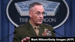 U.S. General Joseph Dunford, the chairman of the Joint Chiefs of Staff (file photo)
