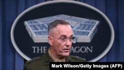 U.S. General Joseph Dunford said he wanted to understand the goals for the coming months so the U.S.-led coalition can develop ways to measure progress in the fight.