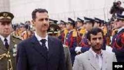 Президенты Сирии и Ирана Башар Асад и Махмуд Ахмадинежад