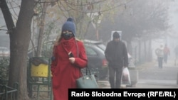 Загадување во Скопје во декември, 2018 година.
