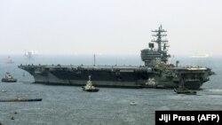 Авианосец «Рональд Рейган» покидает порт Йокосука в Японии