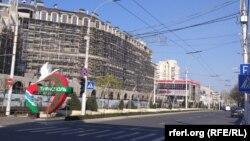 Străzi aproape pustii la Tiraspol, în plină epidemie de coronavirus