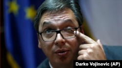 Vučić u intervju za Associated Press, (AP) u Beogradu, 13. oktobra 2017.