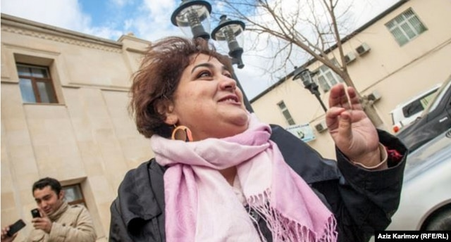 Khadija Ismayilova was sentenced in September to 7 1/2 years in prison on tax-evasion and embezzlement charges that have been widely denounced as retaliation for her reporting.