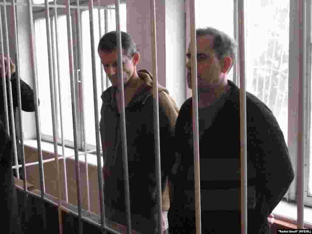 Владимир Садовничий и Алексея Руденко во время чтения приговора