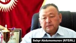 Алычынбай Төралиев. Ак-Турпак айыл аймагынын башчысы. Июнь. 2015-ж.