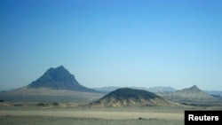 The hills near the proposed site of the Reko Diq copper mine in Balochistan Province, in 2010