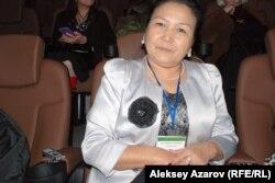 Поэтесса из Кыргызстана Бубайша Арстанбекова. Алматы, 14 ноября 2014 года.