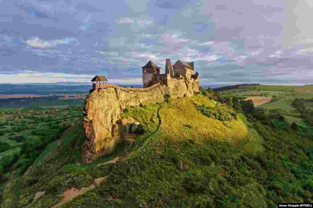 Boldogko Castle was built atop a rocky outcrop in northeastern Hungary. The ancient castle was built to defend against the Mongol Golden Horde that terrorized Europe in the 1200s.
