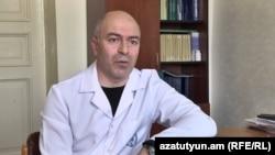 Armenia -- Epidemiologist Arman Badalian, May 7, 2020.