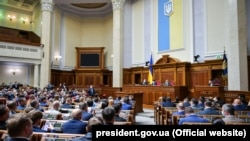 UKRAINE – A general view of deputies during an extraordinary parliamentary session in Kyiv, May 13, 2020