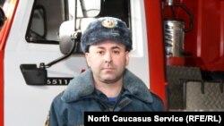 Важа Чабакаури, пожарный