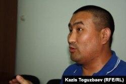 Амангельды Шорманбаев, правозащитник. Алматы, 27 августа 2014 года.