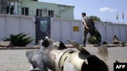 Пункт українських прикордонників у Міловому після обстрілу, 8 серпня 2014 року