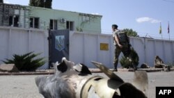 Наслідки обстрілу українського прикордонного пункту в Міловому, серпень 2014 року