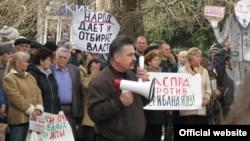 Мітинг в Ялті, 19 березня 2013 року (фото Центру журналістських розслідувань http://investigator.org.ua/)