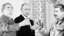Леонид Брежнев, Владимир Путин и Иосиф Сталин