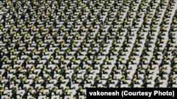 Члени Корпусу вартових ісламської революції (елітний підрозділ збройних сил Ірану)