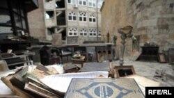Bajrakli džamija nakon nereda, foto: Vesna Anđić