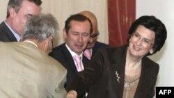 Нино Бурджанадзе на встрече с представителями НАТО. 2007 год