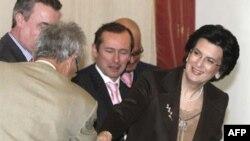 Мулоқоти Нино Бурҷанадзе, раиси порлумони Гурҷистон, бо намояндагони NATO дар Тбилисӣ, 19-уми ноябри соли 2007