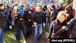 Опозициски протест во Москва.