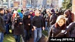 Во время акции против репрессий и пыток. Москва, 27 октября 2012 г