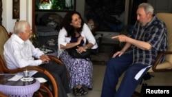 Редкое появление на публике: Фидель Кастро и Джимми Картер, Гавана, 30 марта 2011 года