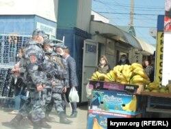 Keriçte Rusiye quvetçileriniñ patruli