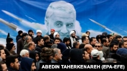 Антиамериканський протест у Тегерані після вбивства генерала Касема Солеймані, 4 січня 2020 року