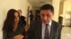 Замначальника полиции Вардан Егиазарян в Национальном собрании беседует с корреспондентом Радио Азатутюн, Ереван, 29 декабря 2017 г.