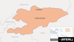 Карта Кыргызстана.