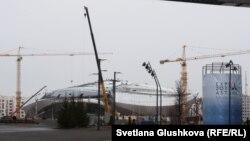 ЭКСПО-2017 көрмесінің құрылысы аяқталмаған нысандарының бірі, Астана (Көрнекі сурет).