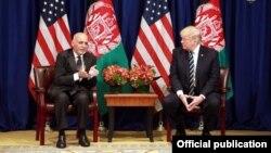 دیدار دونالد ترامپ و محمد اشرف غنی در نیویورک؛ ۳۰ شهریور ۹۶