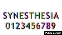При графо-цветовой синэстезии (grapheme - color) человек может воспринимать буквы и цифры окрашенными.
