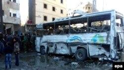 Սիրիա - Դամասկոսի Սաիդա Զեյնաբ թաղամասում պայթյունների հետևանքները, 31-ը հունվարի, 2016թ․