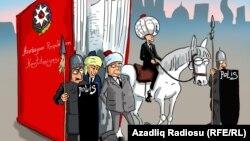 «Սահմանադրական փոփոխությունները Ադրբեջանում», քաղաքական ծաղրանկար